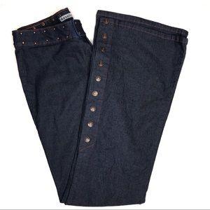 Vintage Gasoline Brand Button Leg Flare Jeans